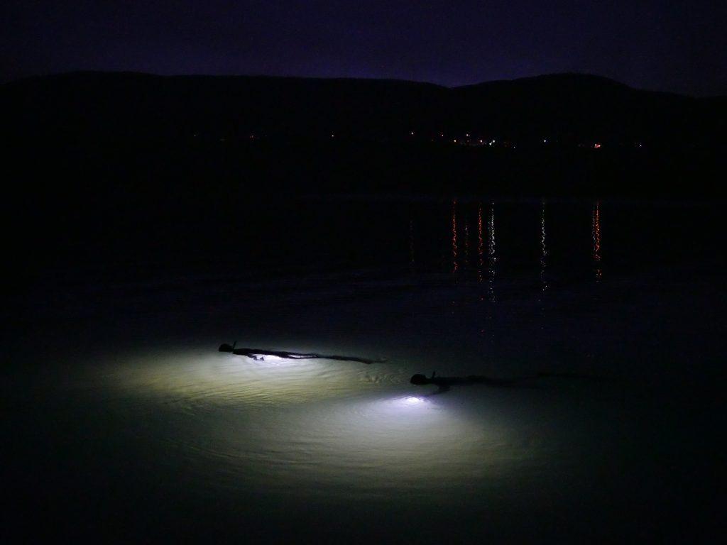 night freediving - noční potápění na nádech