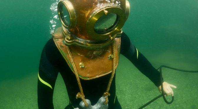 Retro Diving Hard Hat