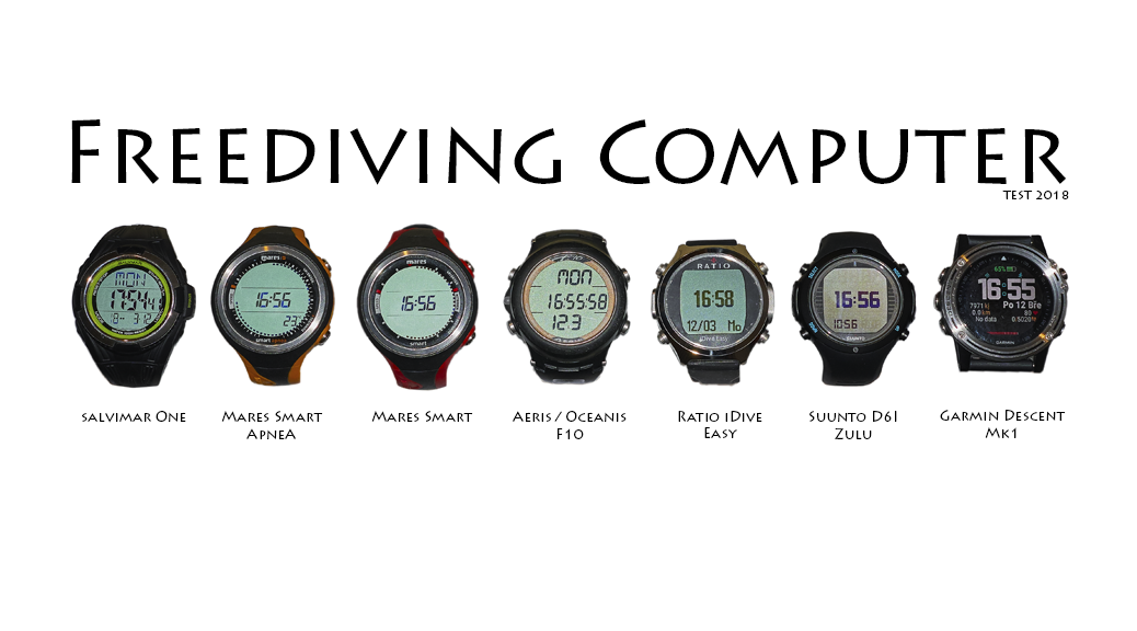 Freediving computer test 2018