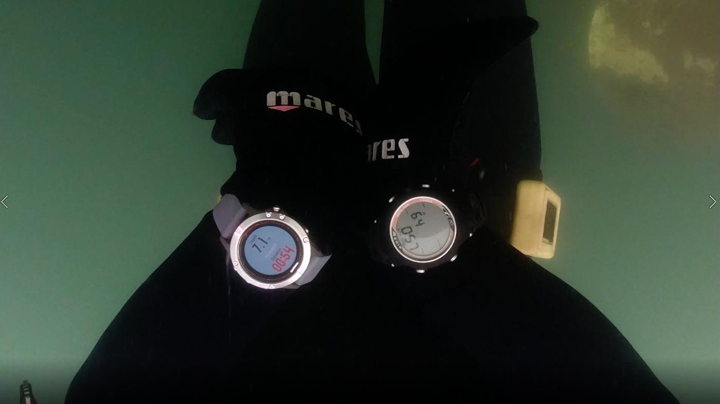 Garmin Fenix 5 vs Aeris F.10 - Freediving Computer