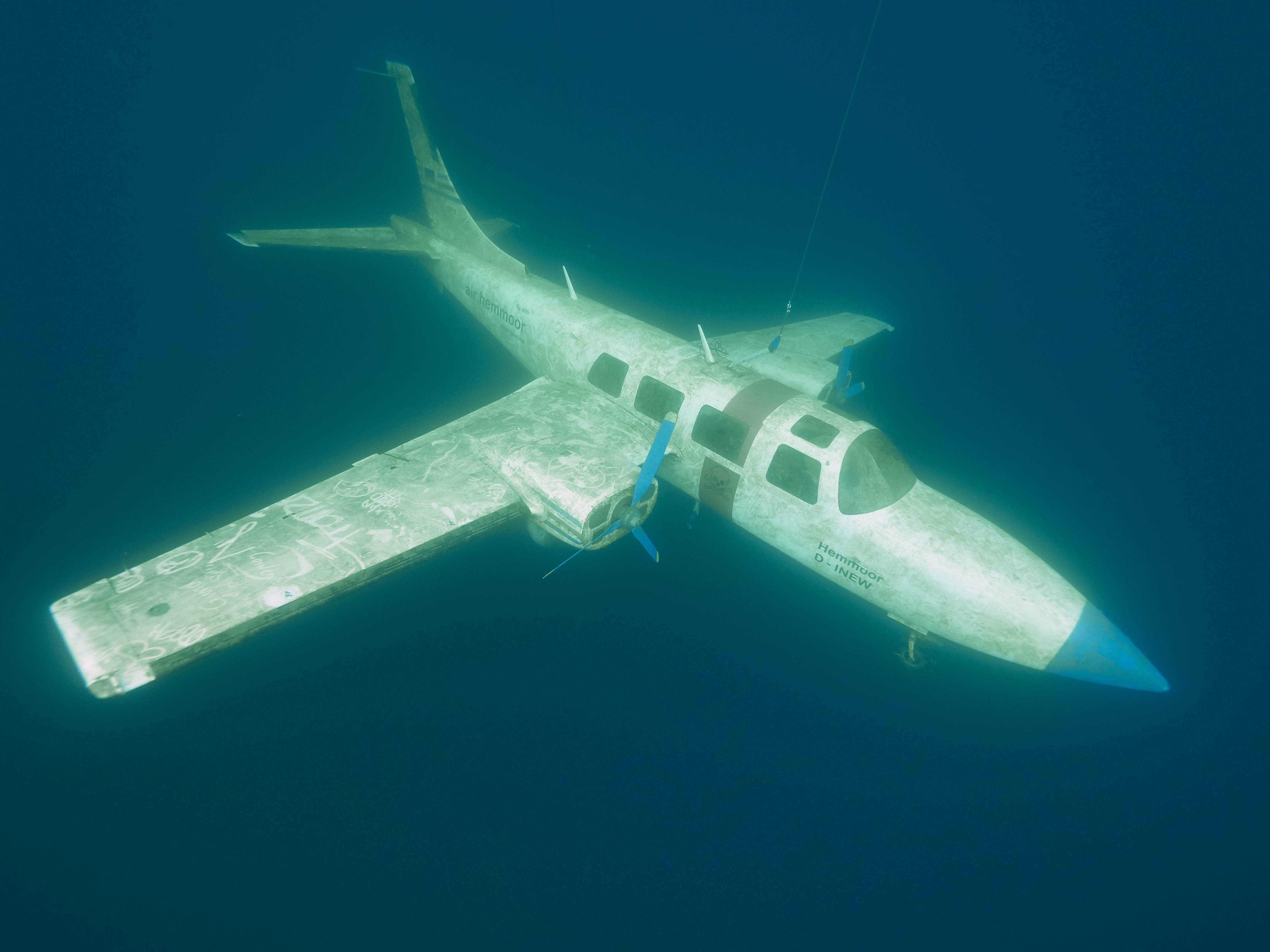 Freediving Kreidesee Hemmoor - Piper Aircraft P601
