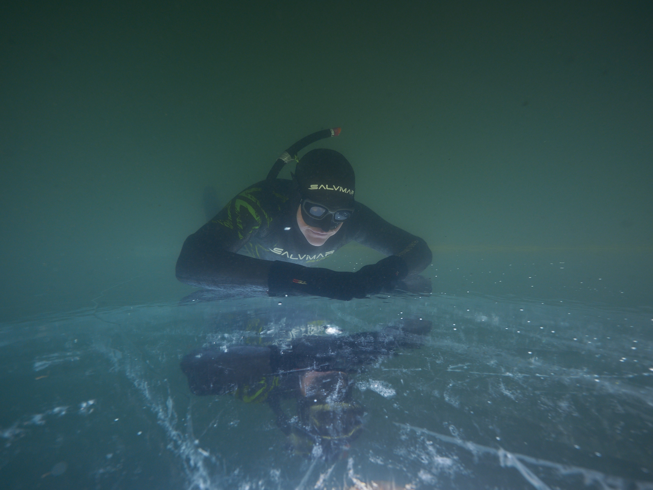 Ice freediving Barbora 2019
