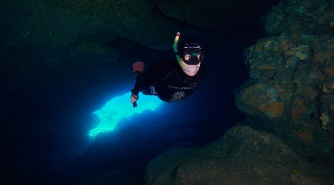 Medjedina freediving diving cave