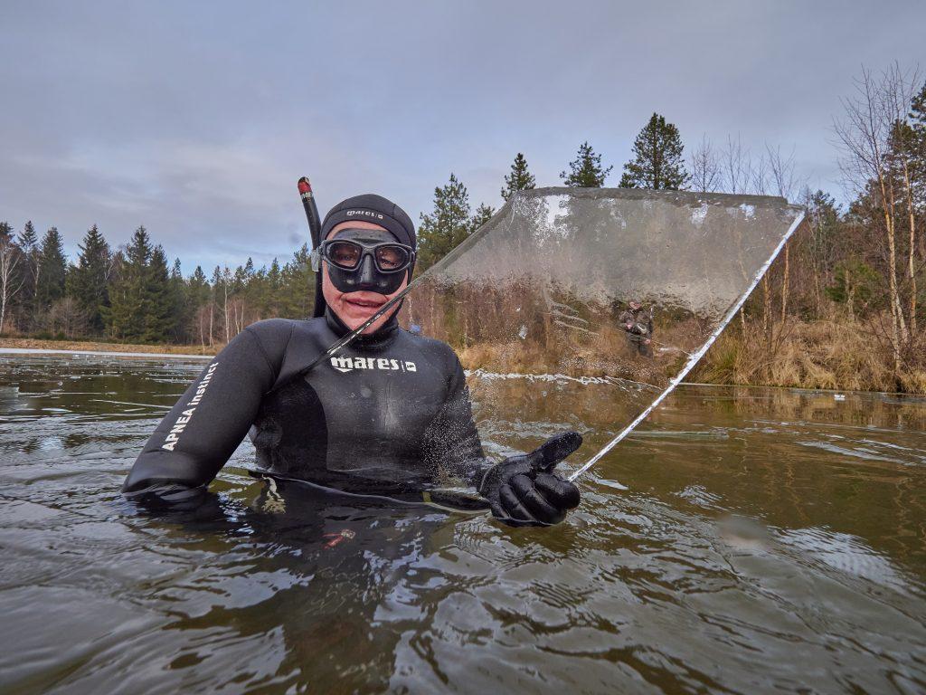ice freediving lisci rybník liščí hrádecký kristinin hrádek