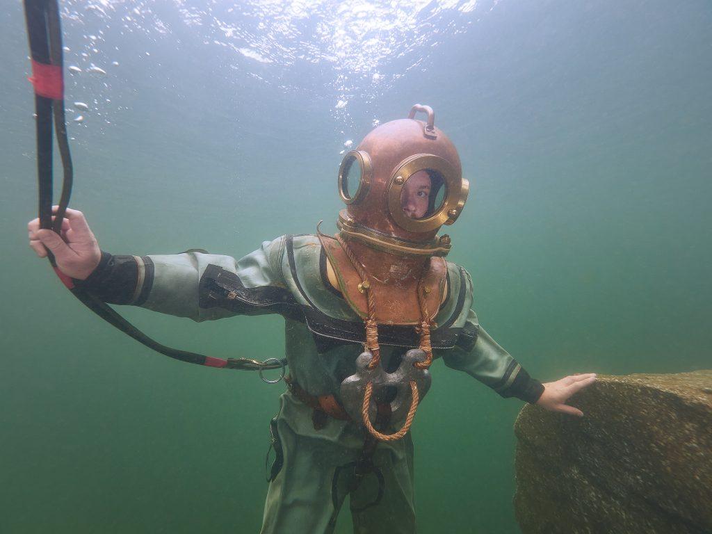 Russian Soviet 3-bolt diving helmet