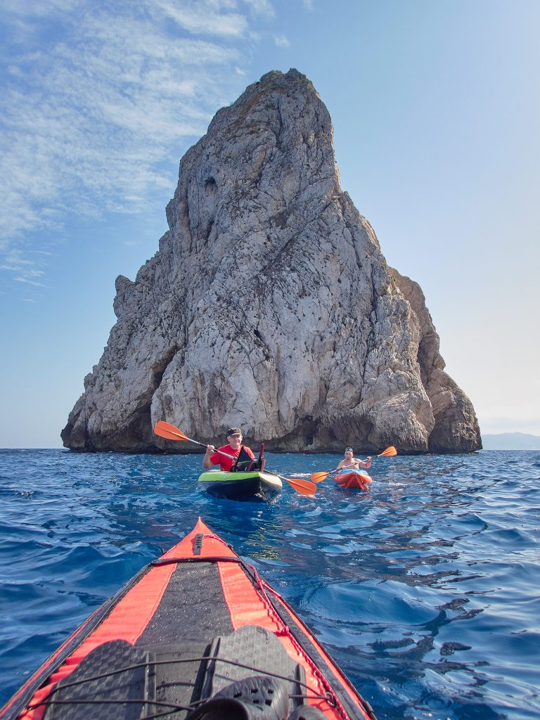 illes medes freediving kayak